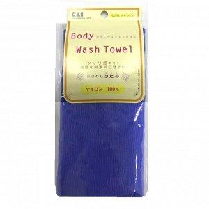 Мочалка для тела (с плотным плетением жесткая), 30 см х 100 см. Цвет: Ярко синий