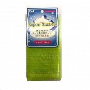 Мочалка для тела (с объемным плетением жесткая), 30 см х 100 см. Цвет: Зеленый