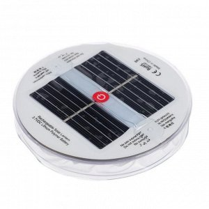Плавающий светильник ПВХ, надувной, солнечная батарея, 10LED, круглый, RGB