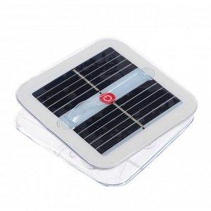 Плавающий светильник ПВХ, надувной, солнечная батарея, 10LED, квадратный, 6500К