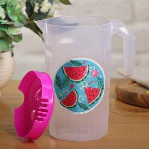 Набор «Арбузы»: кувшин 1.3 л, 4 стакана 250 мл