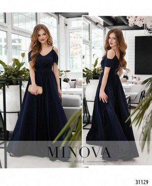 Платье №3118-темно-синий