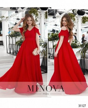Платье №3118-красный