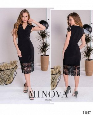 Платье №1082-черный