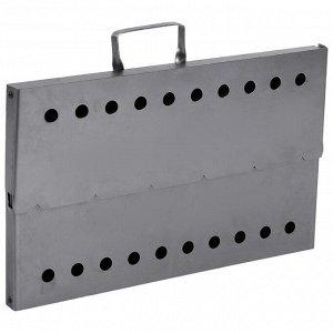 Мангал-дипломат №1 40 ? 25 ? 40 см, сталь 1,5 мм, с шампурами, в сумке