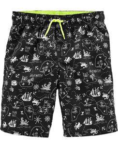 Kid Boy    OshKosh Pirate Swim Trunks