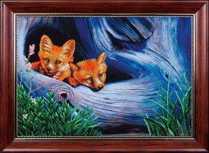 Набор для вышивания бисером МАГИЯ КАНВЫ арт.Б212 Рыжие плутовки 49х34,5 см