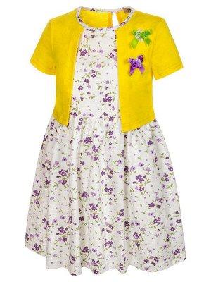 Платье с имитацией болеро