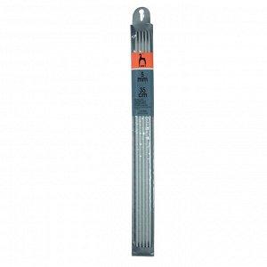 41222 PONY Спицы чулочные 35 см /5.00 мм, алюминий