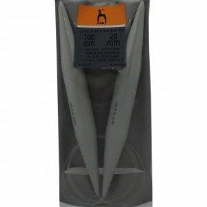 52271 PONY Спицы круговые 20,00 мм/100 см, пластик