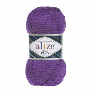 Пряжа для вязания Ализе Diva Plus (100% микрофибра акрил) 5х100г/220м цв.475 фиолетовый
