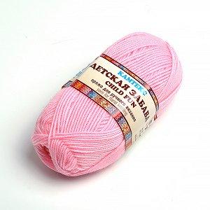 Пряжа для вязания КАМТ 'Детская забава' (20% микрофибра, 80% объемный акрил) 10х50г/140м цв.055 св.розовый