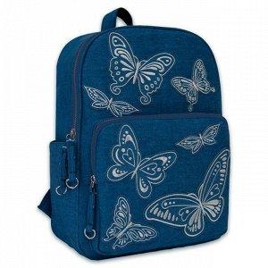 Рюкзак Бабочки голубой 46672
