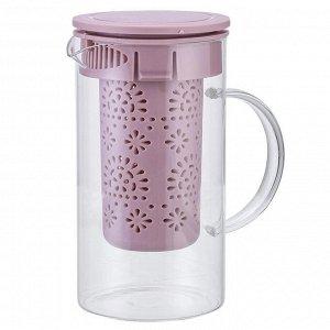 Чайник заварочный 1000 мл с фильтром AK-5520/5 бежево-розовый