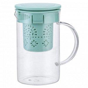 Чайник заварочный 800 мл с фильтром AK-5521/22 мятный
