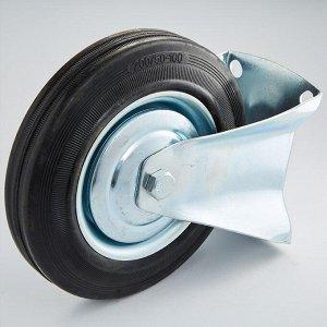 Колесная опора промышленная фиксированная 160х40х190,5мм 135 кг ТД11-05/160-135 черная литая резина