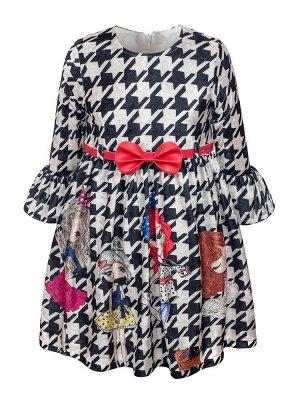 Платье для девочки,с ремешком,на подкладке