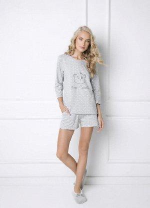 SWEET BEAR GREY Пижама женская с шортами