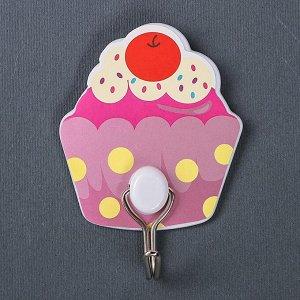 Набор крючков на липучке «Пироженки», 2 шт, цвет МИКС