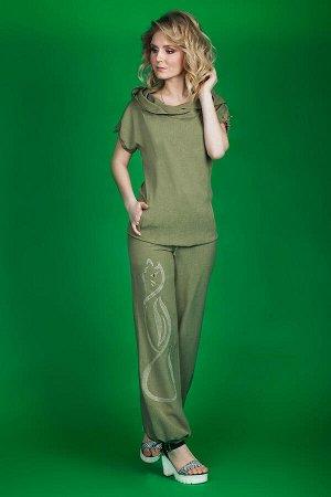 блуза, брюки Euromoda Артикул: 99/1 хаки