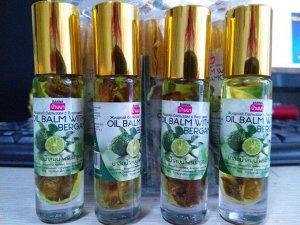 Жидкий масляный бальзам - ингалятор Banna с эфирными маслами и бергамотом