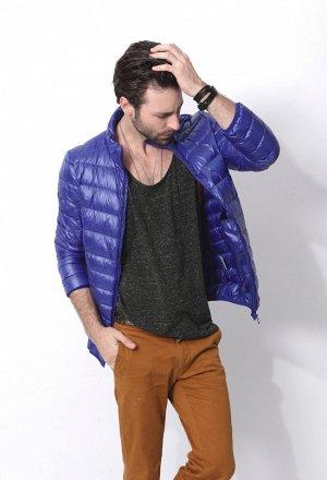 Ультралегкая мужская куртка, цвет ярко-синий