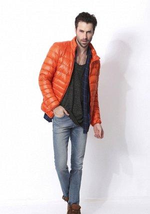 Ультралегкая мужская куртка, цвет оранжевый