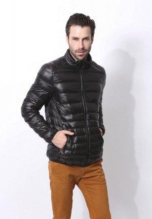 Ультралегкая мужская куртка, цвет черный
