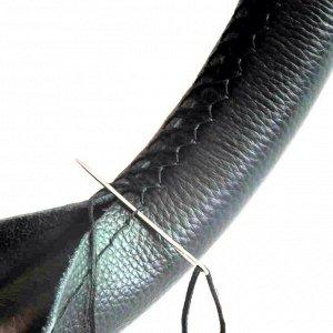 Сшивной чехол TORSO на руль 38 см, искусственная кожа, черный