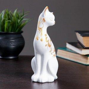 """Фигура """"Кошка ушастая"""" 7?7,5?20см 088 белая"""