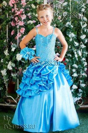 Платье Нарядное пышное платьена рост 122-128см. Длина платья от подмышки около 90см, ширина регулируется утяжкой на корсете.
