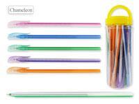 Ручка шариковая В БАНКЕ, цвет чернил - СИНИЙ, удлиненный корпус 19 см, матовый цветной корпус