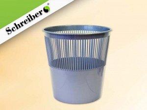 Корзина для бумаг пластиковая, цвет СЕРЕБРЯНЫЙ. объем 12 литров. Производство Россия