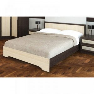 Кровать Модрен 1.6м, 960х1650х2030, Венге/Дуб молочный