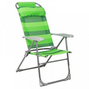 Кресло-шезлонг складное К2, 75 x 59 x 109 см, цвет зелёный