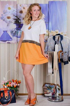 Платье П 375 (оранжевый)