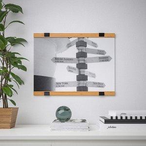 ВИСБЭКК Держатель для постера, бамбук