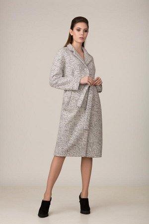 Пальто Пальто Rosheli 653 светло-серый  Состав ткани: ПЭ-30%; Шерсть-20%; ПАН-50%;  Рост: 164 см.  Пальто из плотной меланжированной пальтовой ткани на подкладке. Современный силуэт. Воротник - англи