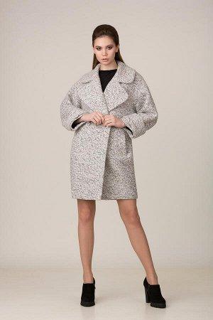 Пальто Пальто Rosheli 649 светло-серый  Состав ткани: ПЭ-30%; Шерсть-20%; ПАН-50%;  Рост: 164 см.  Двухбортное пальто из плотной пальтовой меланжированной ткани на подкладке. Объемность, крупные дета