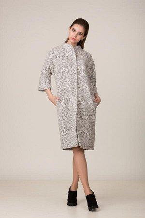 Пальто Пальто Rosheli 658 светло-серый  Состав ткани: ПЭ-30%; Шерсть-20%; ПАН-50%;  Рост: 164 см.  Пальто из плотной меланжированной пальтовой ткани на подкладке. Современный силуэт «летучая мы