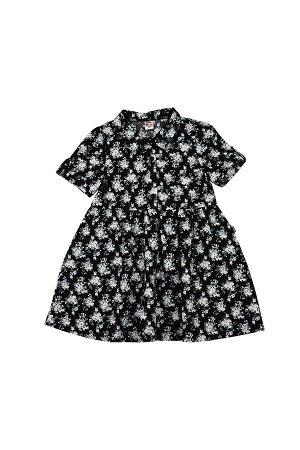 Платье (98-116см) UD 4624(3)черн цветы