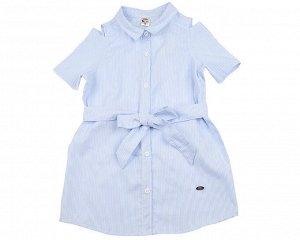 Платье в полоску (98-122см) UD 4785(1)голубой