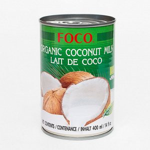 """Органическое кокосовое молоко """"FOCO"""" (10-12%) 400 мл"""