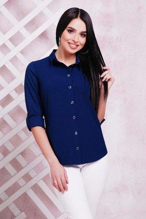 Блуза 1710 темно-синий