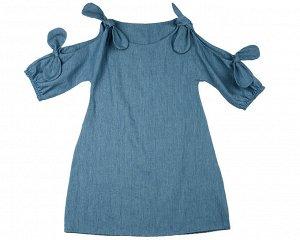 Платье (122-146см), UD 6370(1)св.джинс