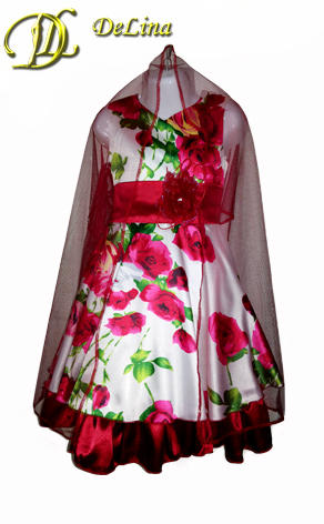 Платье Коктейльное Роза