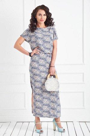 Платье Виктория (принт) П693-11
