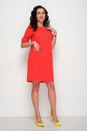 Платье Твигги (коралл) П689-8