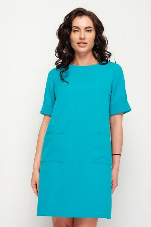 Платье Твигги (бирюза) П690-8