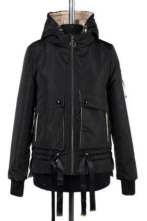 04-2245 Куртка демисезонная (синтепон 100) Плащевка черный